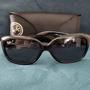 Ray-Ban Jackie Ohh Black Polarized Sunglasses